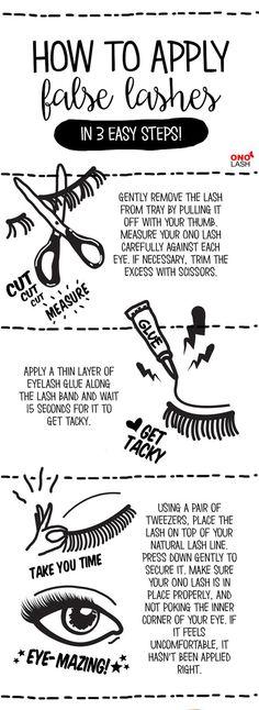 false eyelashes how to apply easy steos