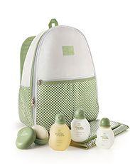 Conjunto Mamãe e Bebê - Sabonete com Saboneteira + Shampoo + Condicionador + Água de Colônia + Mochila