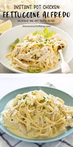 Instant Pot Chicken Alfredo is perfection! This one-pot pasta recipe is quick and easy to make for dinner, loaded with f Easy Chicken Dinner Recipes, Chicken Pasta Recipes, Easy Pasta Recipes, Cooking Recipes, Chicken Tacos, Simple Recipes For Dinner, Angel Hair Pasta Recipes, One Pot Chicken, Water Recipes