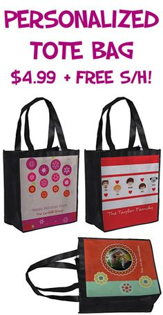 $4.99 Personalized Tote Bag + FREE Shipping!