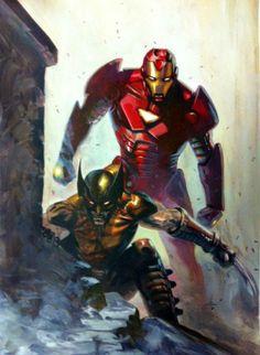 Wolverine & Iron Man by Gabriele Dell'Otto