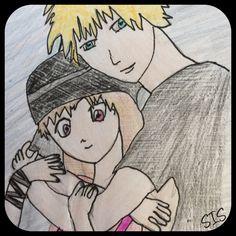 Anime-Manga Zeichnung Mädchen Junge