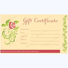 gift certificate 25 spa and saloon gift certificate templates
