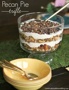 This pecan pie trifle is an impressive and delicious dessert to serve when entertaining . Get the recipe here.