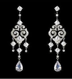 dangly chandelier earrings rhinestones