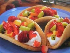sugar cookie tacos .. yum...reminds me of Downtown Grill