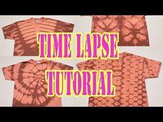 Bleach Tie Dye 4 shirt TimeLapse Tutorial [Part 1] - YouTube