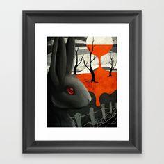 Watership Down Framed Art Print by shanapatry | Society6