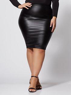 04e8fbeb3cf32 9 Best Faux leather pencil skirt images | Ladies fashion, Feminine ...