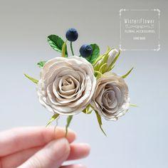 Wedding Hair Pin Rose Wedding Hair Pin Bridal от WisteriFlower