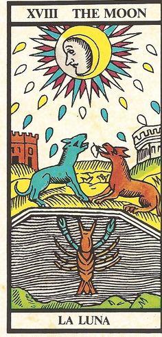 Arcano XVIII - A Lua - Carta Tarot para 11-09-2014