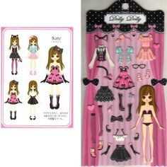 Q-Lia Dolly Dolly Colorforms Stickers with Jewels: Kate
