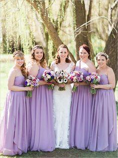 purple chiffon bridesmaid dresses
