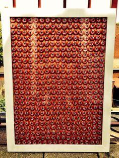 DIY Framed beer bottle caps