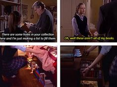 Gilmore Girls - Rory and her beloved books.