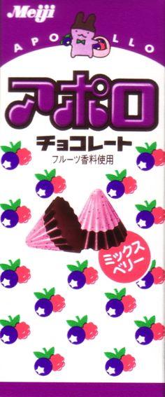 Japanese snack Meiji Apollos