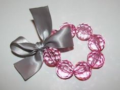 DIY Girls Stretchy Beaded Ribbon Bracelet DIY Jewelry DIY Bracelet
