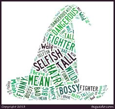 Make your own wordles. Choose a shape that represents you. Fill with various size and shape words describing you.