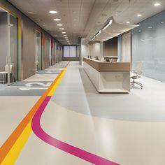 Pin by olivia mcdonald on board 6 - resilient flooring in 2019 medical offi Clinic Interior Design, Clinic Design, Commercial Interior Design, Commercial Interiors, Modern Interior, Hospital Architecture, Healthcare Architecture, Healthcare Design, Senior Living Facilities