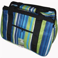 Asstd National Brand JanetBasket Blue Stripes Eco Bag