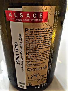 El Alma del Vino.: Domaine Seilly Pinot Gris Schenkenberg Cuvée Particuliére 2008.