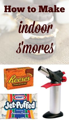 Learn how to make indoor s'mores! They're so easy - no campfire needed!