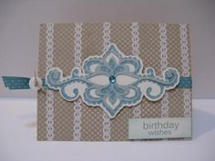 Card made with the Elegant Cakes Cricut cartridge, any special occasion card