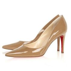 Cheap Christian Louboutin New Decoltissimo 85 mm Leather Pumps Brown Outlet Online.