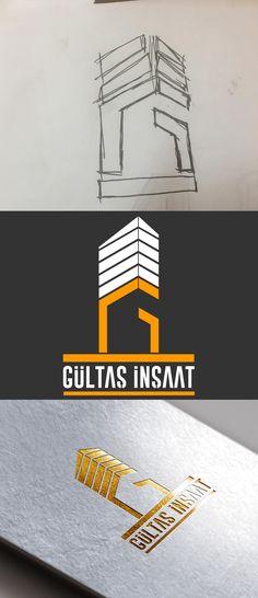 Gültaş İnşaat Logo Süreci Logo Design Logo Building Logo Realestate Logo Hece Reklam Design