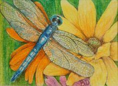 "Original Art Floral & Gardens Miniature ACEO 3.5"" X 2.5"" Signed Artist Donati US #Miniature"