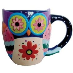 Amazon.com: Westland Giftware 12-Ounce Cozy Owl Ceramic Mug, 4-Inch: Kitchen & Dining