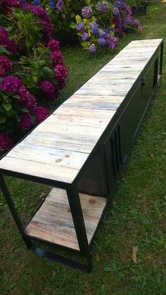 Meuble TV avec plateaux en bois de palette | Recyclart