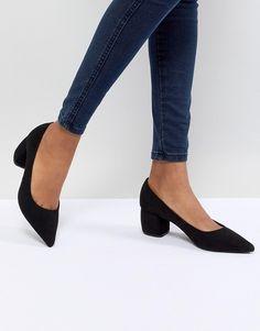 Bershka   Bershka Pointed Block Heel Shoe