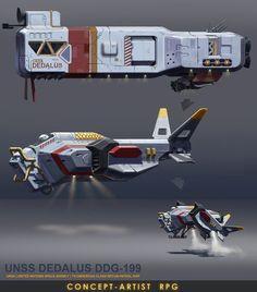 Space ship concept, Mykhailo Moskal on ArtStation at https://www.artstation.com/artwork/Ao2wo: