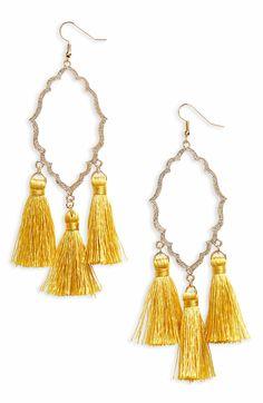 Main Image - BP. Medallion Tassel Earrings