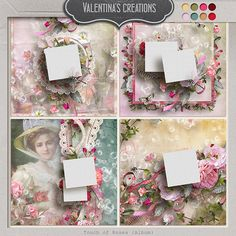 """""""Touch of Roses {Album}"""" includes 4 Quick Pages made in PNG format, 3600 x 3600 pixels, 300 dpi. For Quick Pages with multiple photos (more ..."""