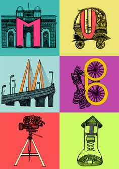 Colours of Mumbai inspired by Architect, Automobiles, Food, Clothing, Entertainment, media etc