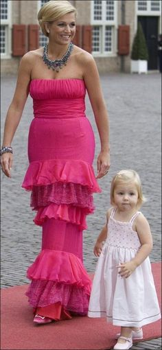 HRH Maxima, Princess of The Netherlands and one of her three daughters