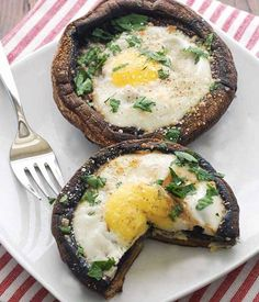 30 minute meals eggs baked in portobello mushrooms