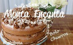 bolo-churros-monta-encanta01 Oreo, Churro Cake, Cupcake Cakes, Cupcakes, Tiramisu, Eat, Ethnic Recipes, Desserts, Food