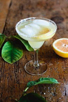 Grapefruit Margarita: 1 part grapefruit juice, 1 part tequila, 1/2 part #Cointreau