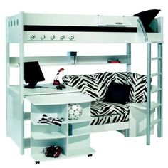 girls loft bad with desk | Stompa Combi 1 Bunk Bed with Sofa Bed Desk and Bookshelf – Next Day ...