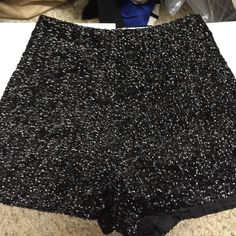 TOBI Black Sequin Shorts Size small. Never worn! Side zipper. Tobi Shorts