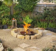 Nice outdoor fire pit.