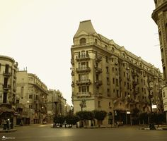The neglected beauty of Down Town Cairo Buildings In a very early morning shot - Egypt   Check more beautiful buildings and places here http://beyondmoda.wordpress.com/2013/11/17/egypt-that-you-will-definitely-love/