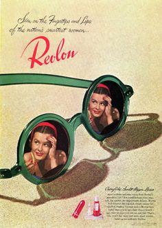 """Revlon ad for """"Cherry Cola"""" lipstick, 1950s"""