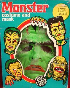 Vintage Kmart monster costume and mask