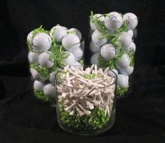 Golf Centerpieces and Golf Favors | How to Make a Centerpiece for a Golf Themed Party