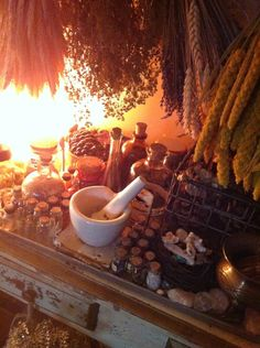 Lotheriel's Elven Realm - Glimpse into my elven realm~ alchemy,botany and. - Pinned by The Mystic's Emporium on Etsy Witch Cottage, Witch House, Maleficarum, Hedge Witch, Kitchen Witchery, Practical Magic, Witch Aesthetic, Book Of Shadows, Alchemy