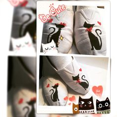 Be cute Painted by hand. Cat shoes 😻😻
